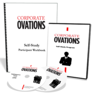 Corporate Ovations book -Image depicting the NxtGen Corporate Ovations offering
