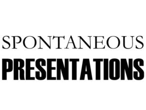 Spontaneous Presentations Programme - NxtGEN