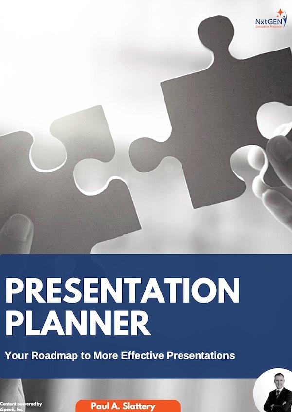 Presentation Planner E-Book Cover – NxtGEN Executive Presence